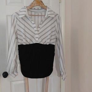 JohnPaulRichard Size L Large Black & White Top